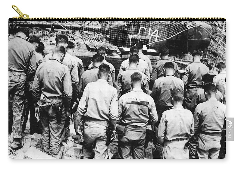 1952 Carry-all Pouch featuring the photograph Korean War: Church Service by Granger
