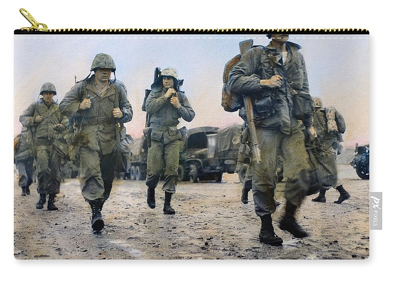 1953 Carry-all Pouch featuring the photograph Korean War: Marines, 1953 by Granger