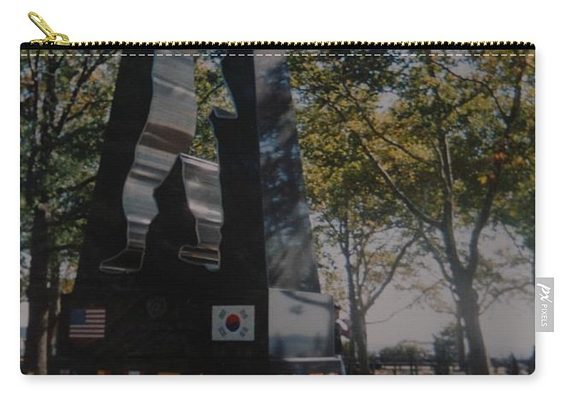 Korea Carry-all Pouch featuring the photograph Korean War Memorial by Rob Hans