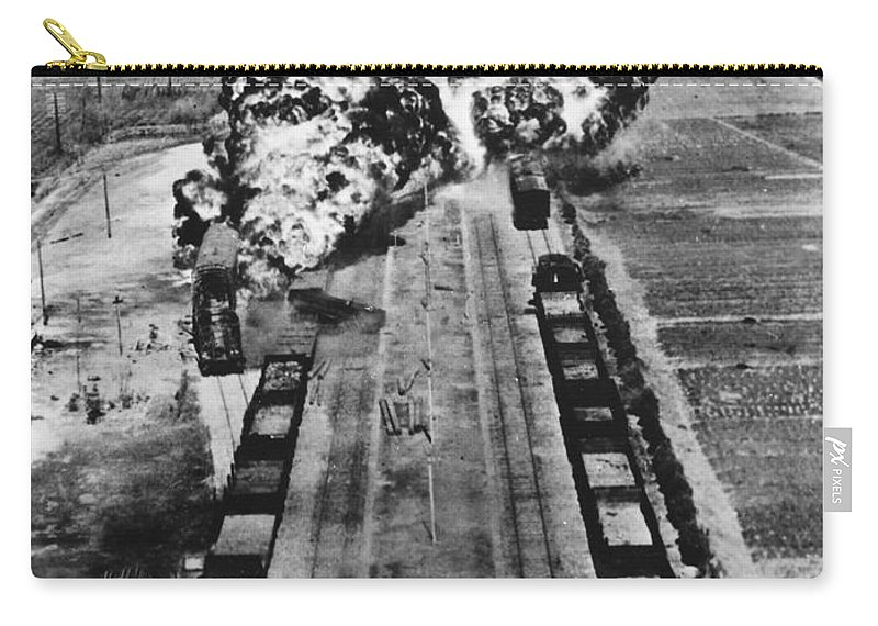 1950 Carry-all Pouch featuring the photograph Korean War: Napalm Raid by Granger