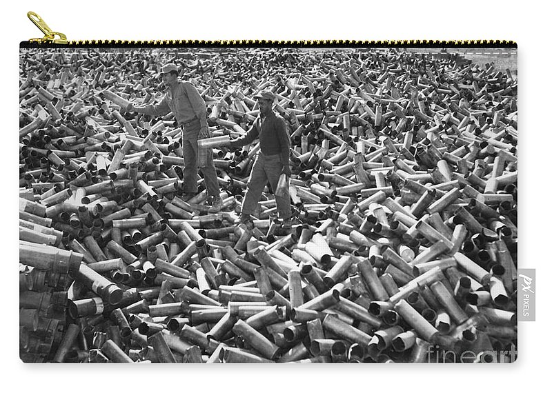 1952 Carry-all Pouch featuring the photograph Korean War: Shell Casings by Granger