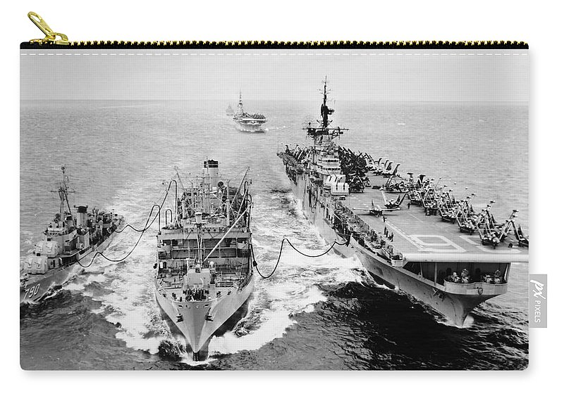 1953 Carry-all Pouch featuring the photograph Korean War: Ship Refueling by Granger