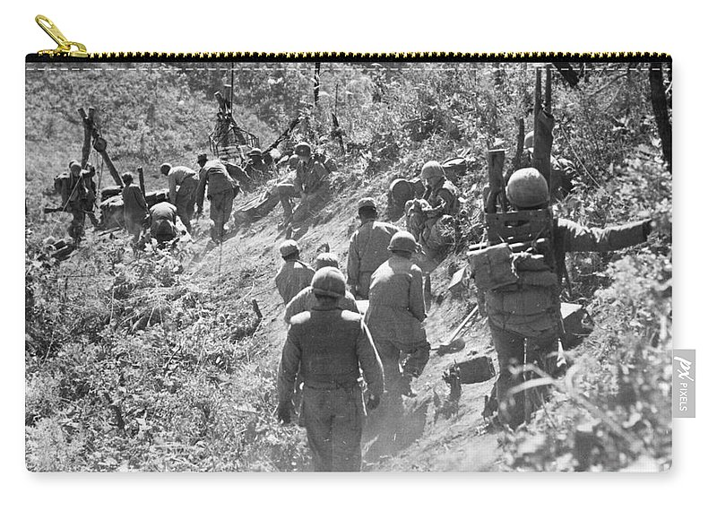 1952 Carry-all Pouch featuring the photograph Korean War: Triangle Hill by Granger