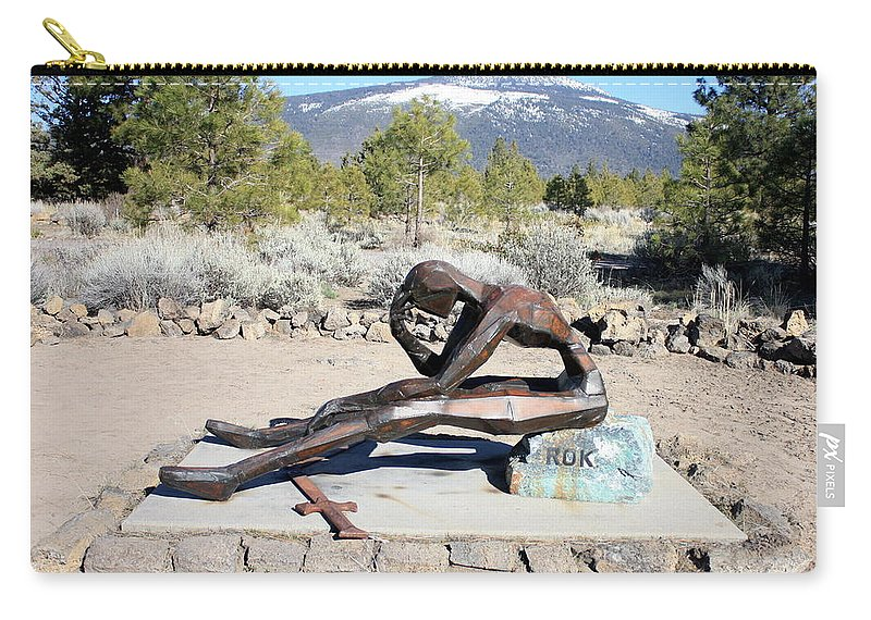 Korean War Veteran Carry-all Pouch featuring the photograph Korean War Veteran Memorial by Carol Groenen