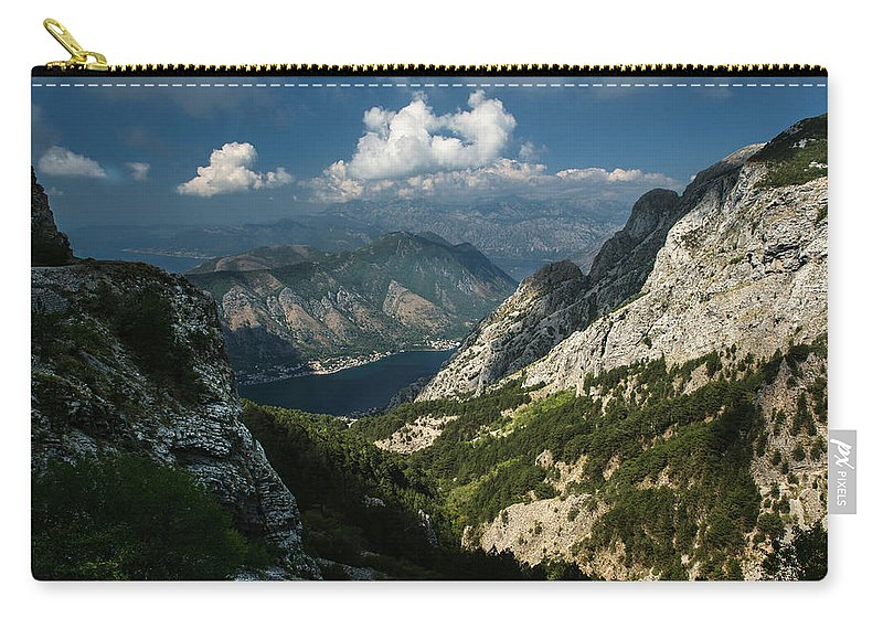 Landscape Carry-all Pouch featuring the photograph Kotor Bay by Jaroslaw Blaminsky