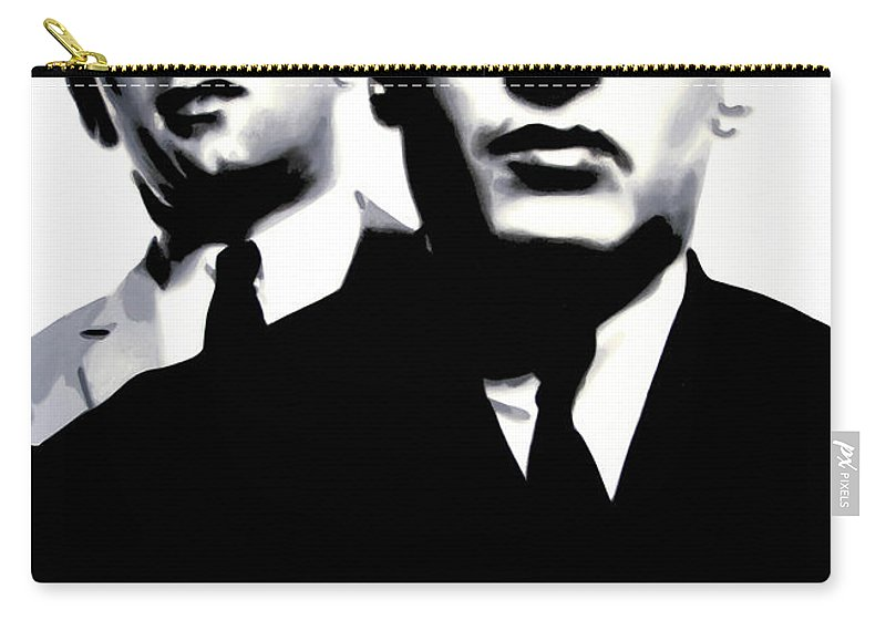 Krays Carry-all Pouch featuring the painting Kray Twins by Luis Ludzska