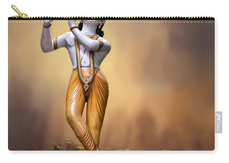 Art Carry-all Pouch featuring the photograph Krishna by Maria Coulson