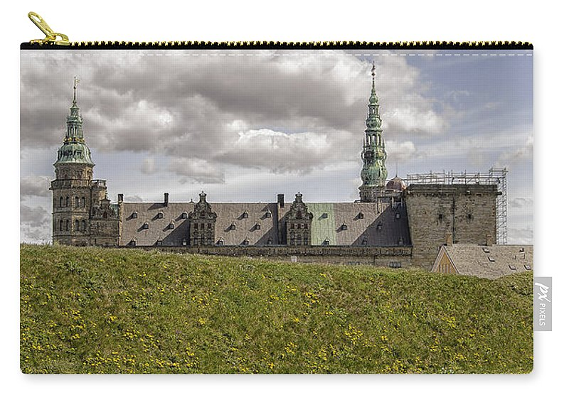 Denmark Carry-all Pouch featuring the photograph Kronborg Castle Moat Mound by Antony McAulay
