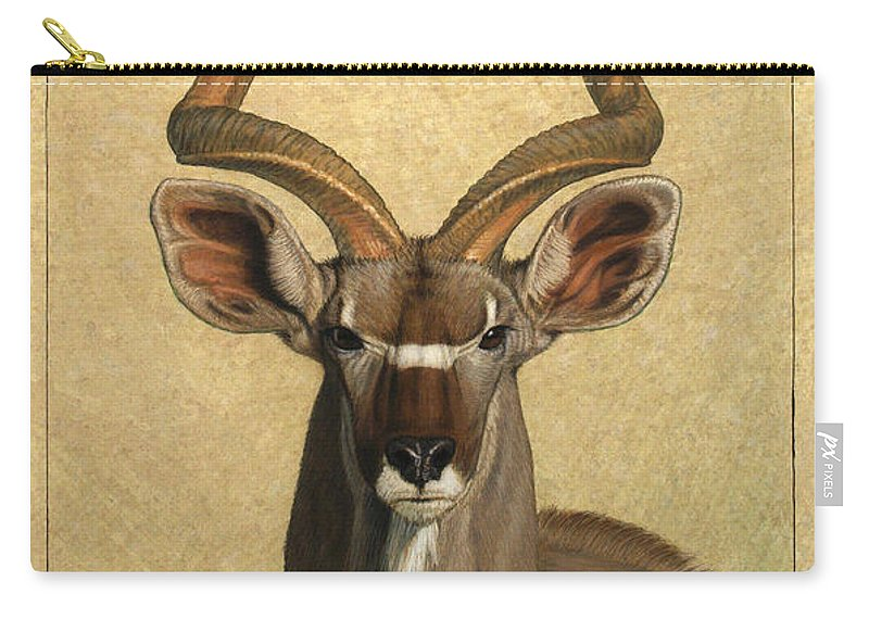 Kudu Carry-all Pouch featuring the painting Kudu by James W Johnson