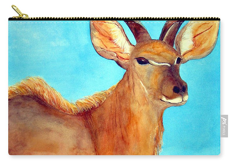 Kudu Carry-all Pouch featuring the painting Kudu by Patricia Beebe