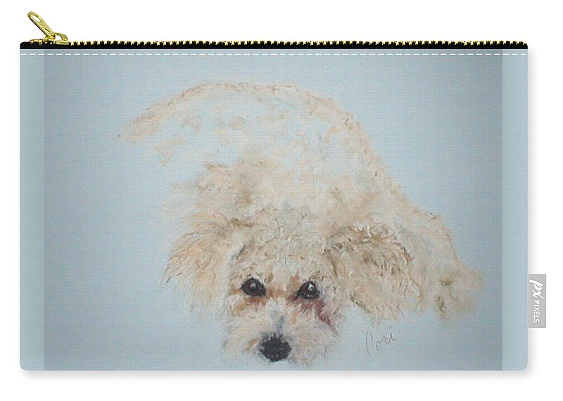 Dog Carry-all Pouch featuring the drawing Kuku by Cori Solomon