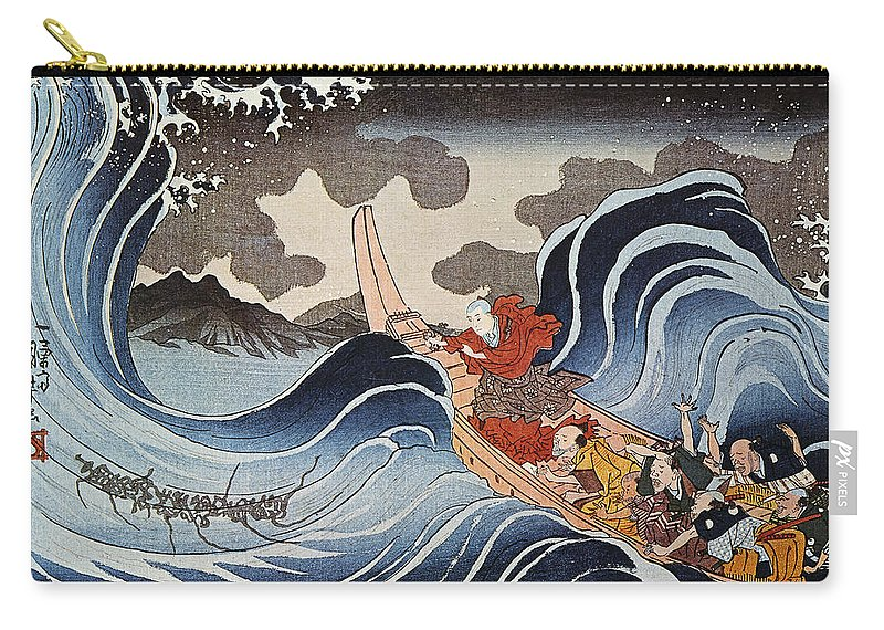1835 Carry-all Pouch featuring the photograph Kuniyoshi: Oban Print by Granger