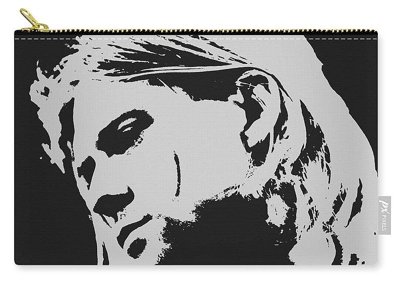Kurt Cobain Poster Art Carry-all Pouch featuring the painting Kurt Cobain Poster Art by Pd