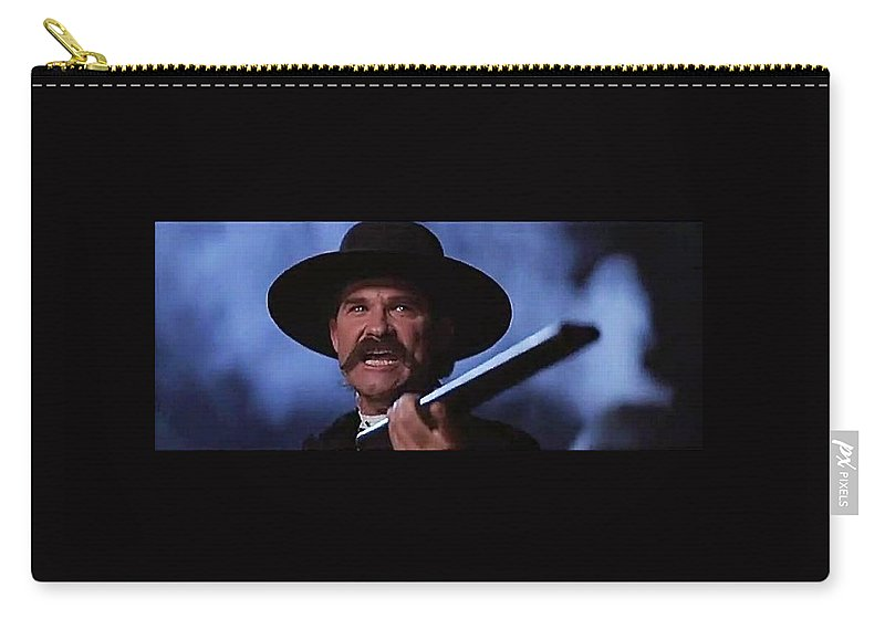 Kurt Russell As Wyatt Earp In Tombstone 1993 Carry-all Pouch featuring the photograph Kurt Russell As Wyatt Earp In Tombstone 1993 by David Lee Guss