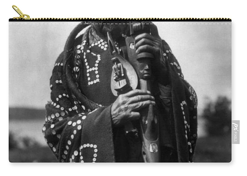 Aod Carry-all Pouch featuring the photograph Kwakiutl Chief, C1914 by Granger