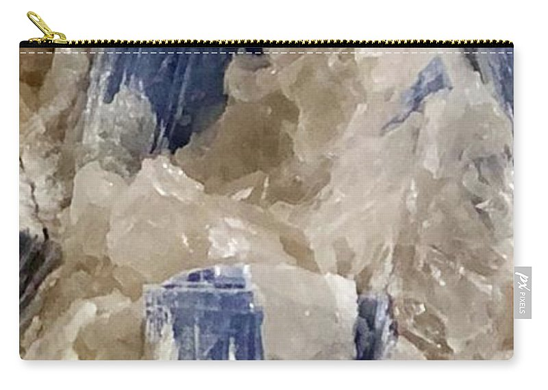 Kyanite Carry-all Pouch featuring the photograph Kyanite Art by Susan Garren