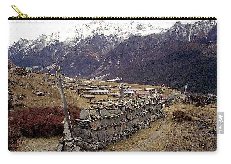 Langtang Carry-all Pouch featuring the photograph Kyanjin Gompa by Patrick Klauss