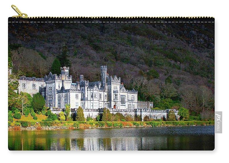 Ireland Kylemore Abbey Castle Connemara Carry-all Pouch featuring the photograph Kylemore Abbey by Steve Alvarado