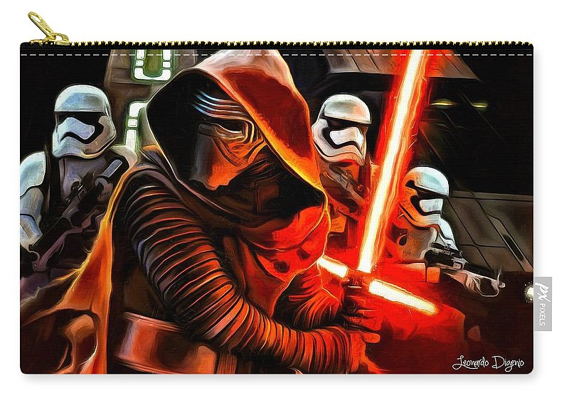Star Wars 7 Carry-all Pouch featuring the painting Kylo Ren And Assistants by Leonardo Digenio