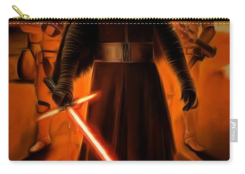 Star Wars 7 Carry-all Pouch featuring the painting Kylo Ren In The Battlefield by Leonardo Digenio