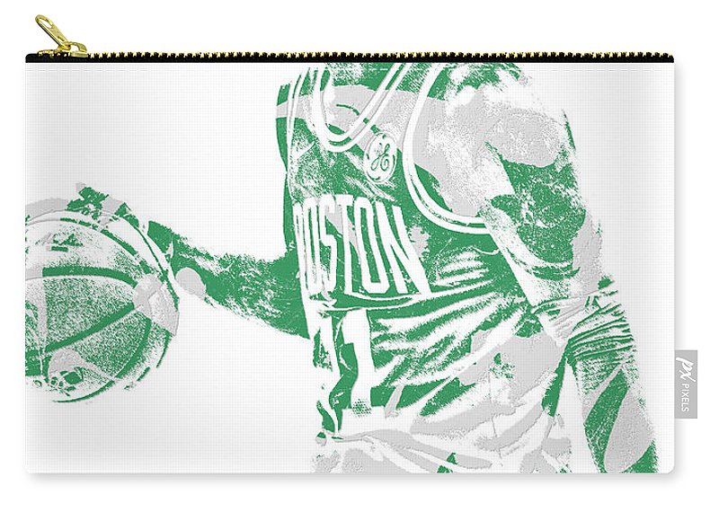 9d00dcd4dc2 Kyrie Irving Carry-all Pouch featuring the mixed media Kyrie Irving Boston  Celtics Pixel Art