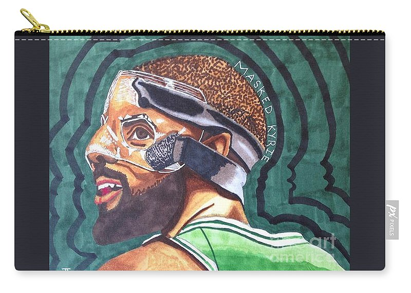 best sneakers d9bb8 c4356 Nba Basketball Boston Celtics Kyrie Irving Marker Drawing Original  Carry-all Pouch featuring the drawing