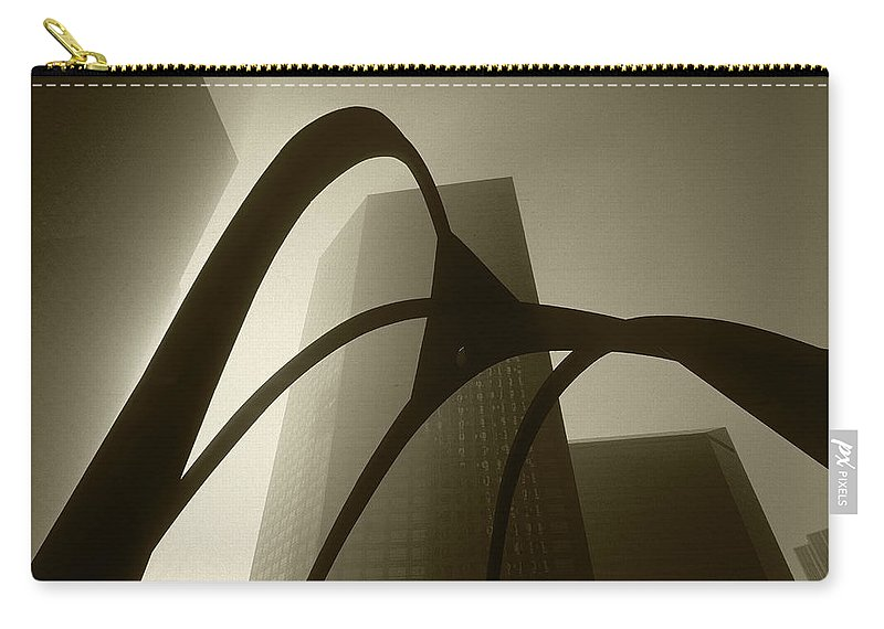 Abstract Carry-all Pouch featuring the photograph La Abstract Bw by Steve Williams