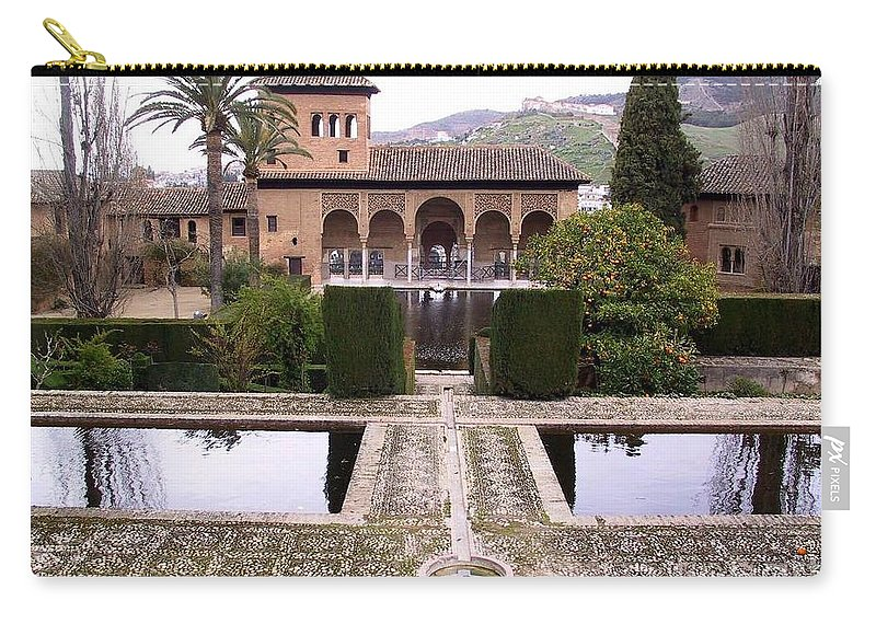 Alhambra Carry-all Pouch featuring the photograph La Alhambra Garden by Thomas Marchessault