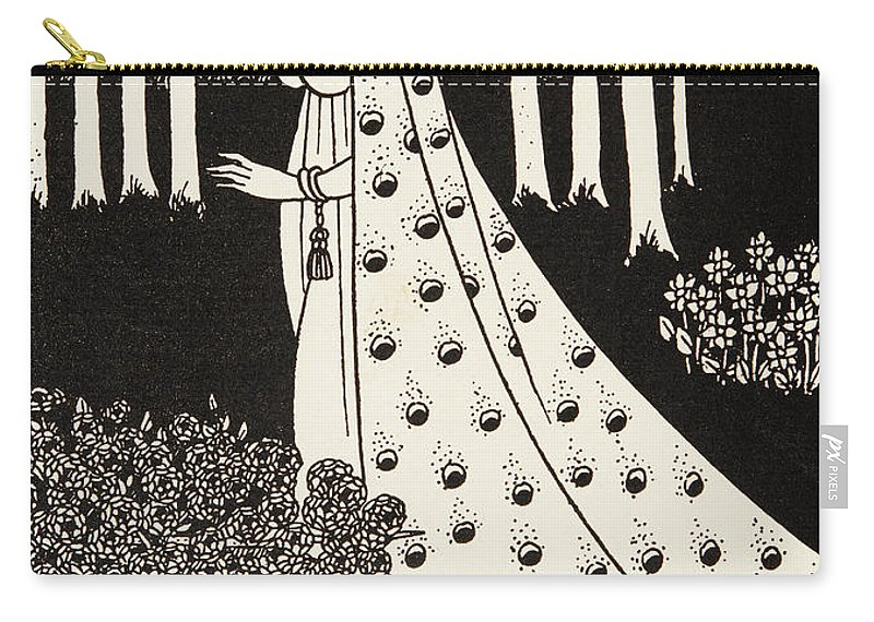 Nouveau Carry-all Pouch featuring the drawing La Beale Isolde by Aubrey Beardsley
