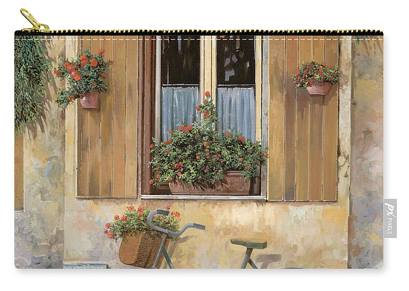 Bike Carry-all Pouch featuring the painting La Bicicletta by Guido Borelli