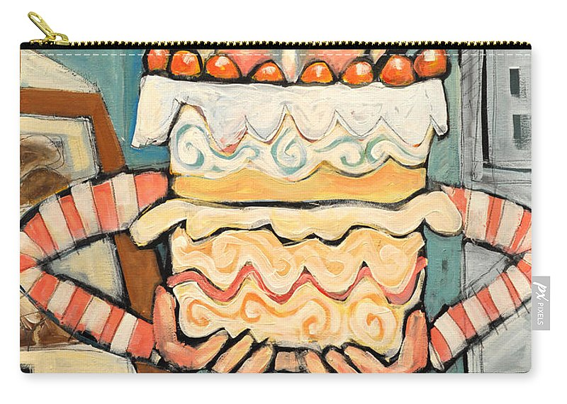 Cake Carry-all Pouch featuring the painting La Boulanger Francaise by Tim Nyberg