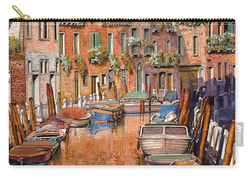 Venice Carry-all Pouch featuring the painting La Curva Sul Canale by Guido Borelli