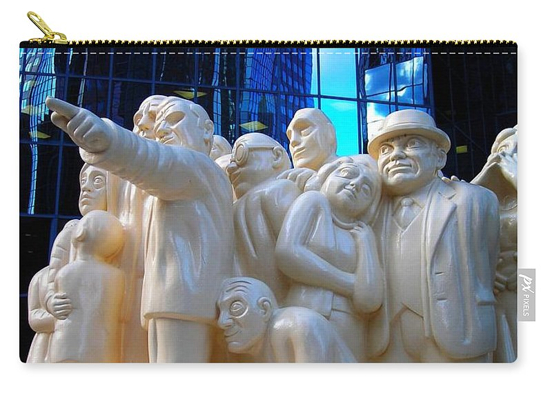 North America Carry-all Pouch featuring the photograph La Foule Illuminee by Juergen Weiss