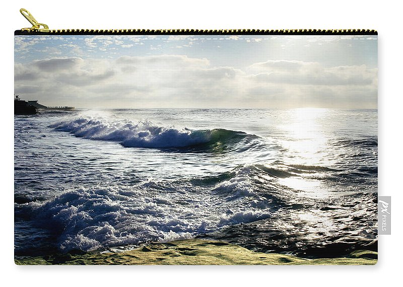 Beach Carry-all Pouch featuring the photograph La Jolla Towards Casa Cove by Anthony Jones