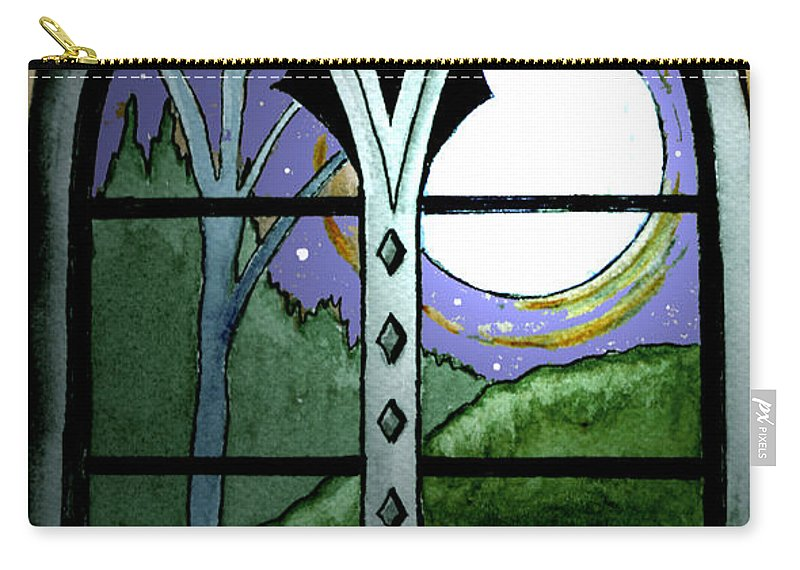 Landscape Carry-all Pouch featuring the painting La Luna by Brenda Owen