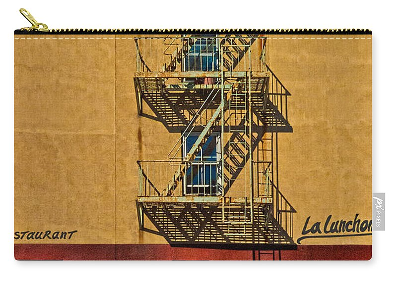 Chelsea Carry-all Pouch featuring the photograph La Lunchonette by Chris Lord