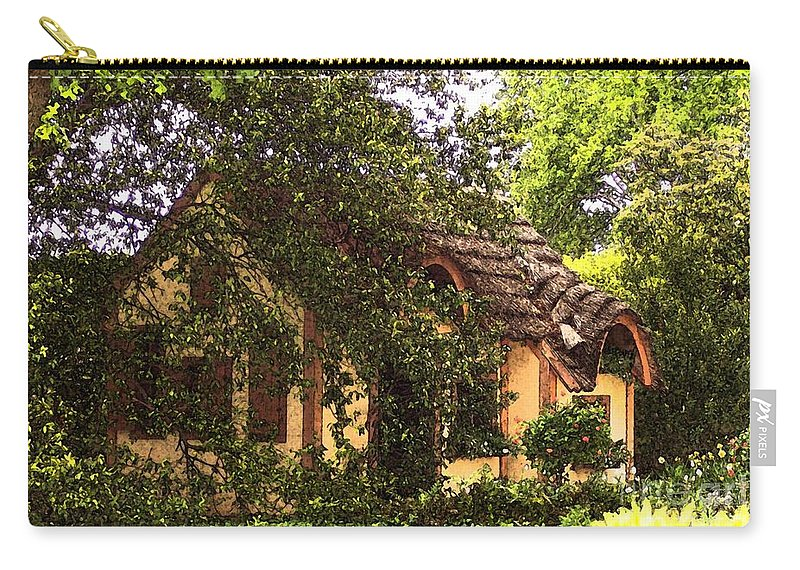 Cottage Carry-all Pouch featuring the photograph La Maison by Debbi Granruth
