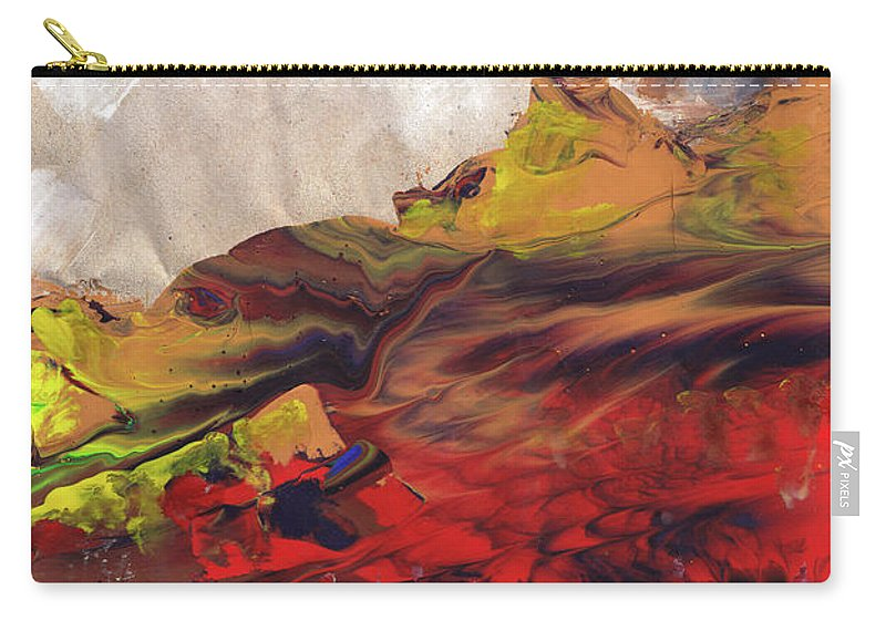 Landscapes Carry-all Pouch featuring the painting La Mer Rouge by Miki De Goodaboom