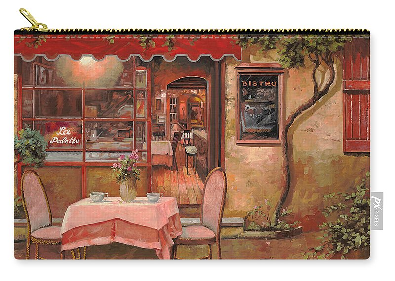 Caffe Carry-all Pouch featuring the painting La Palette by Guido Borelli