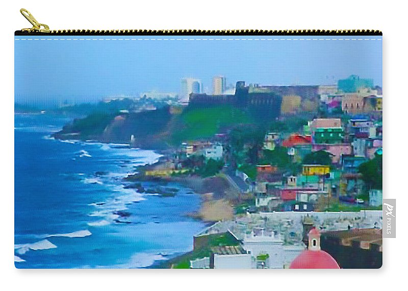 San Juan Carry-all Pouch featuring the photograph La Perla In Old San Juan by Craig David Morrison