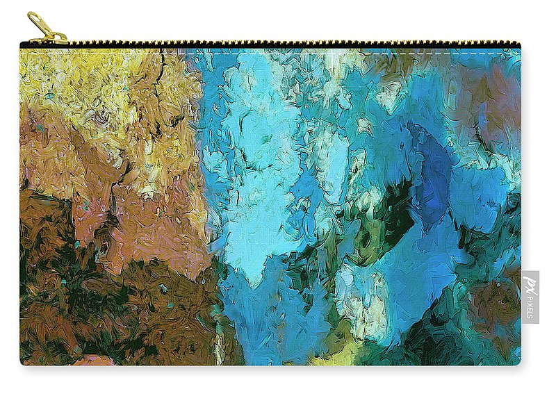 Abstract Carry-all Pouch featuring the painting La Playa by Dominic Piperata