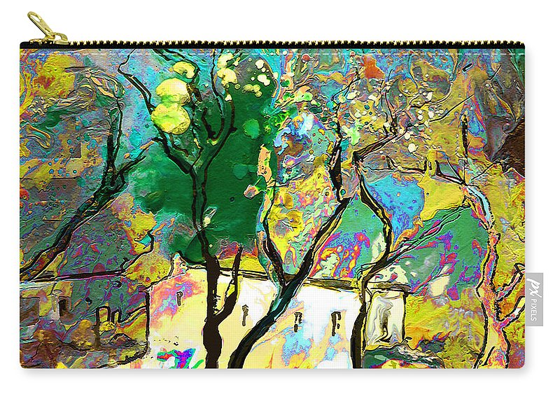 Miki Carry-all Pouch featuring the painting La Provence 16 by Miki De Goodaboom