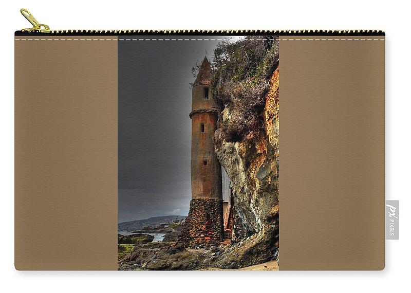La Tour Carry-all Pouch featuring the photograph La Tour Upright by Richard Omura
