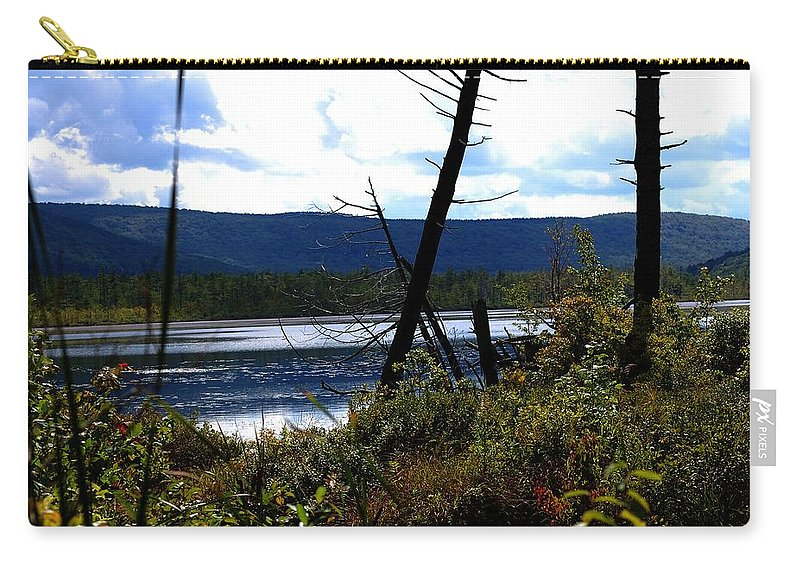 Digital Photograph Carry-all Pouch featuring the photograph Labrador Pond by David Lane