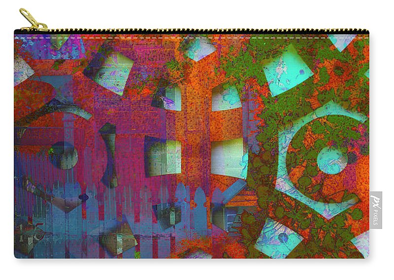 Puzzle Carry-all Pouch featuring the digital art Labyrinth by Anthony Robinson