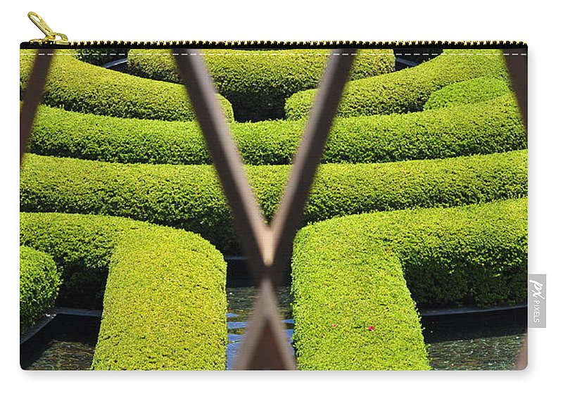 Clay Carry-all Pouch featuring the photograph Labyrinth At The Getty by Clayton Bruster