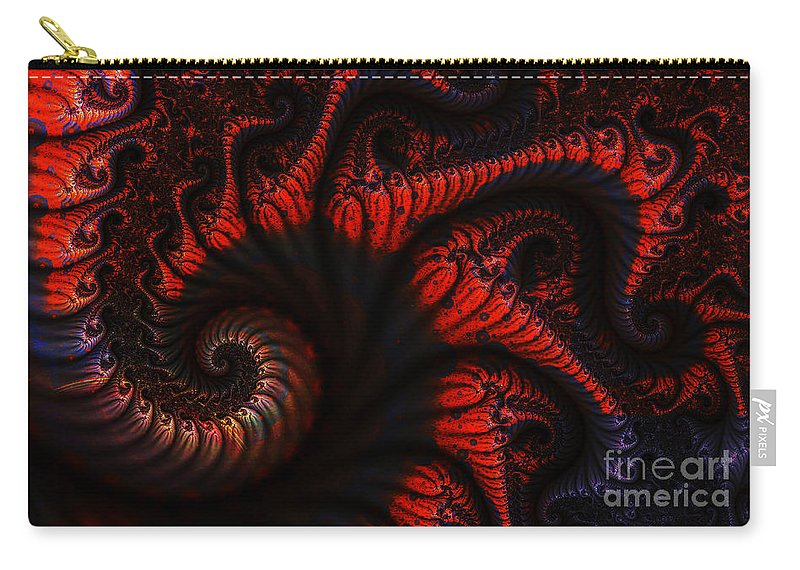 Clay Carry-all Pouch featuring the digital art Labyrinth by Clayton Bruster