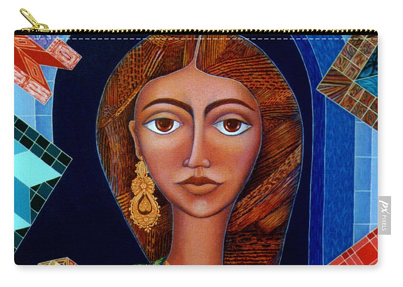 Painting Carry-all Pouch featuring the painting Labyrinth Of Memoirs by Madalena Lobao-Tello