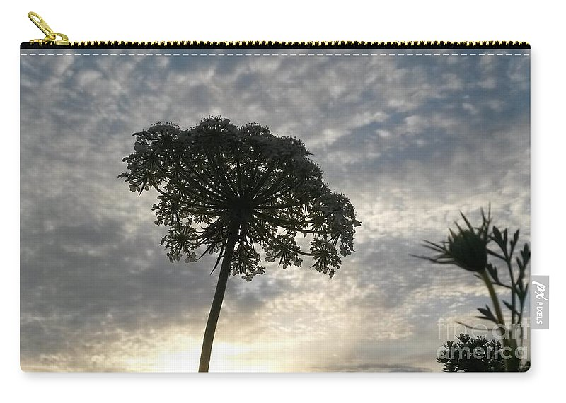 Laced With Beauty Carry-all Pouch featuring the photograph Laced With Beauty by Maria Urso