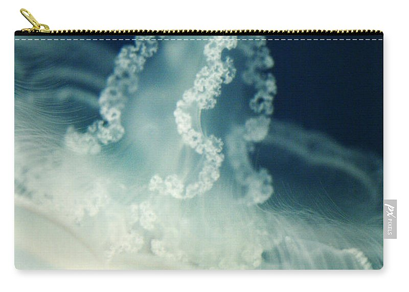 Sea Carry-all Pouch featuring the photograph Lacey Jellyfish by Marilyn Hunt